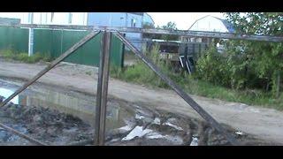 видео Делаем ворота для дачи из профнастила