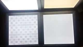 Обзор Светодиодных светильников в потолок 30х30 см. Для дизайнерской подсветки.