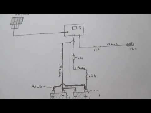 Harbor Freight 100w solar system schematic