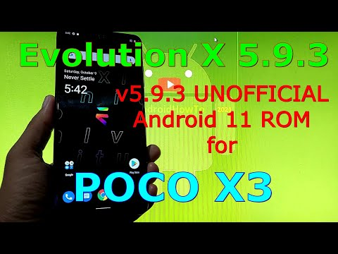Evolution X 5.9.3 UNOFFICIAL for Poco X3 NFC (Surya) Android 11