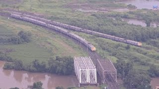 Mindboggling Panoramic Aerial View Of Mumbai Suburban Railway Network from Over 250m at Mumbra