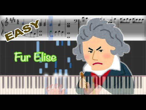 Beethoven - Fur Elise | Sheet Music & Synthesia Piano Tutorial thumbnail