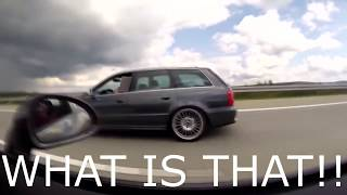Cocky Porsche 911 messes with the wrong Sleeper Audi RS4