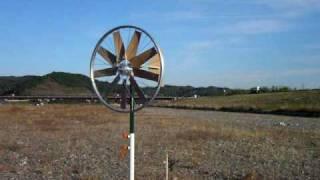 Bicycle wheel wind turbine(自転車の車輪そのままの風力発電機)
