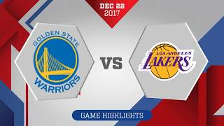 Los Angeles Lakers vs. Golden State Warriors - December 22, 2017