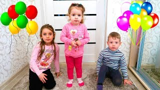 Funny kids and Andrei want to play