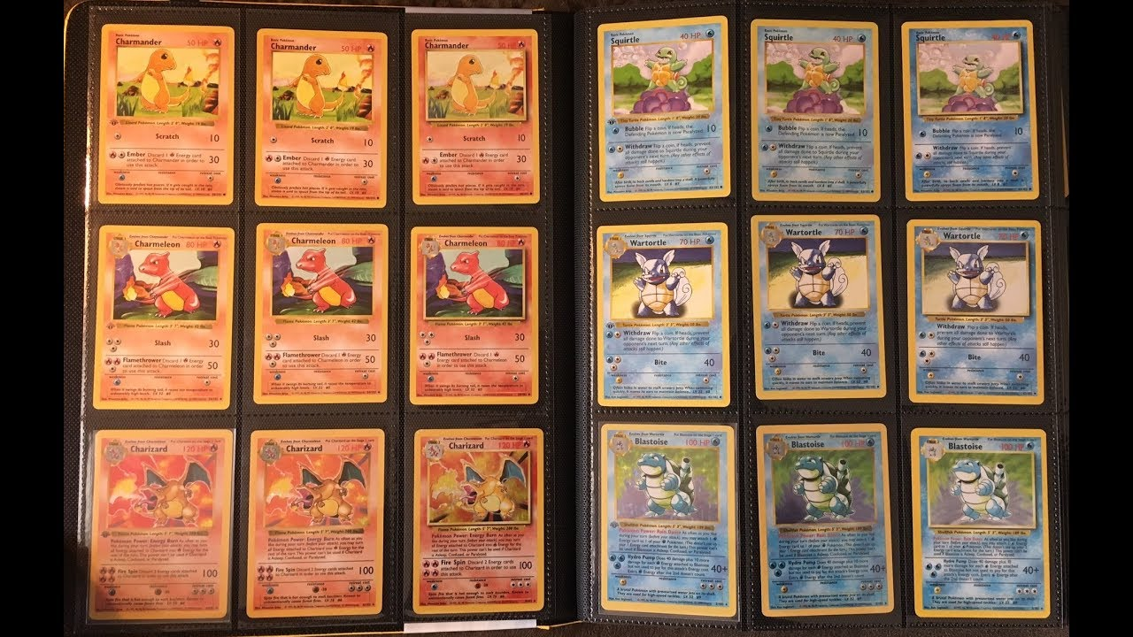smpratte - Binder Collection: Pokemon 1st Edition Shadowless Base Set  Complete