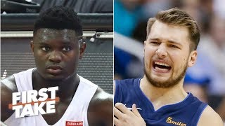 Zion Williamson and Luka Doncic are overrated on the 'NBA re-drafted' list - Stephen A. | First Take