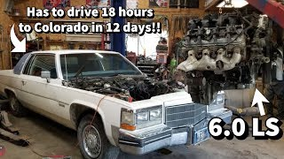 6.0 LS Swapping A Cadillac Coupe De Ville! HUGE Progress! Should be running soon