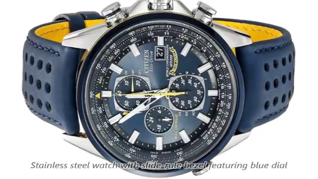aedde21ad Citizen Men's AT8020-03L Blue Angels World A.T Eco-Drive Watch - YouTube