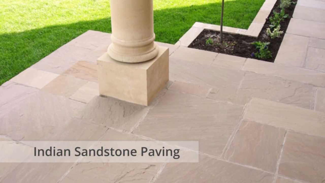Indian Sandstone Paving Slabs   Raj Green, Autumn Brown, Modac, Kandla  Grey, Mint Fossil Patio Stone   YouTube