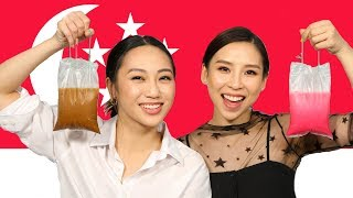 Trying Foods From Singapore!     TINA TRIES IT