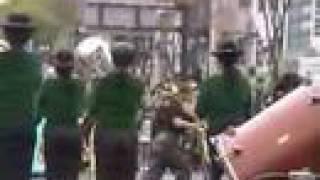 2007.04.07. 道三まつりのパレードで演奏された、県岐商吹奏楽部による...