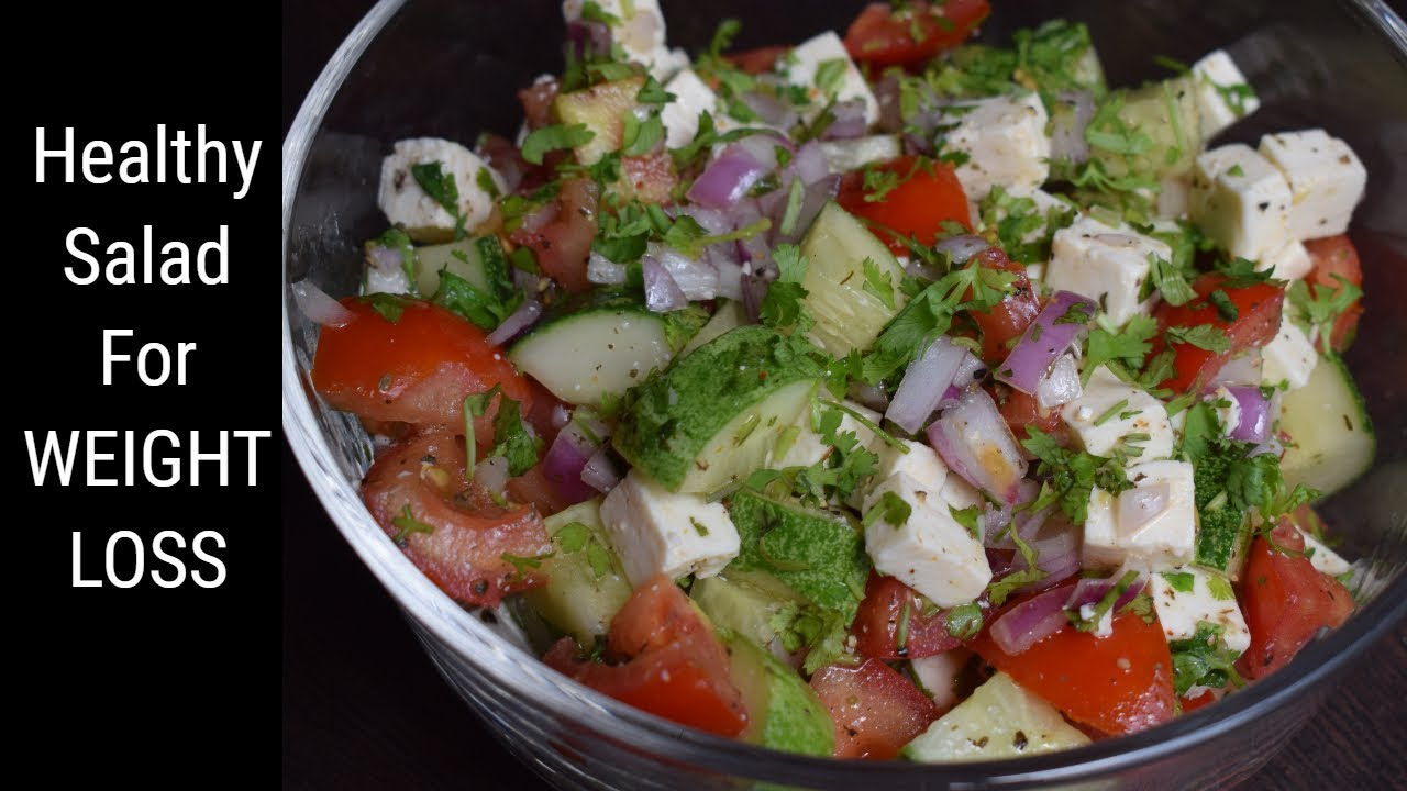 Healthy Salad For Weight Loss Easy Diet Recipe Youtube