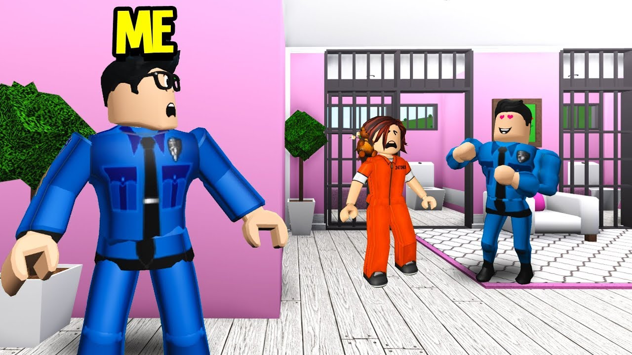 Cop Arrested My Girlfriend.. He Secretly Had A CRUSH On Her! (Roblox Bloxburg) thumbnail