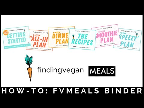 Finding Vegan Meals – How-to Make a Binder