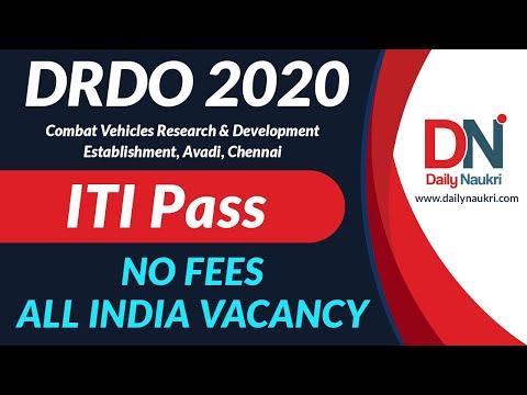 CVRDE DRDO Recruitment 2020 - 116 CVRDE Avadi Apprentice Job Vacancy | CVRDE Chennai | ITI Jobs 2020