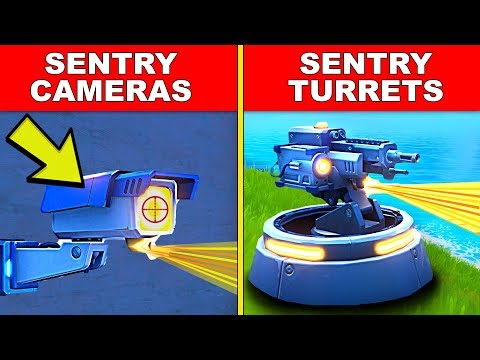 DESTROY SENTRY CAMERAS OR SENTRY TURRETS - LOCATION GUIDE TNTINA'S TRIAL WEEK 3 CHALLENGES FORTNITE