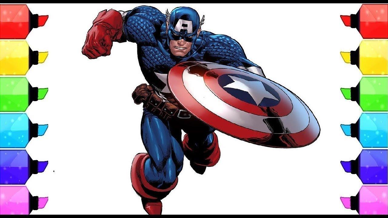 Coloring Book Captain America Pagine Di Colorazione L Disegni E