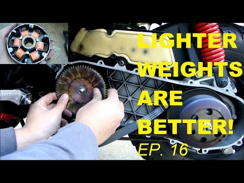 LIGHTER ROLLER WEIGHTS = MORE SPEED (FASTER SCOOTER EPISODE