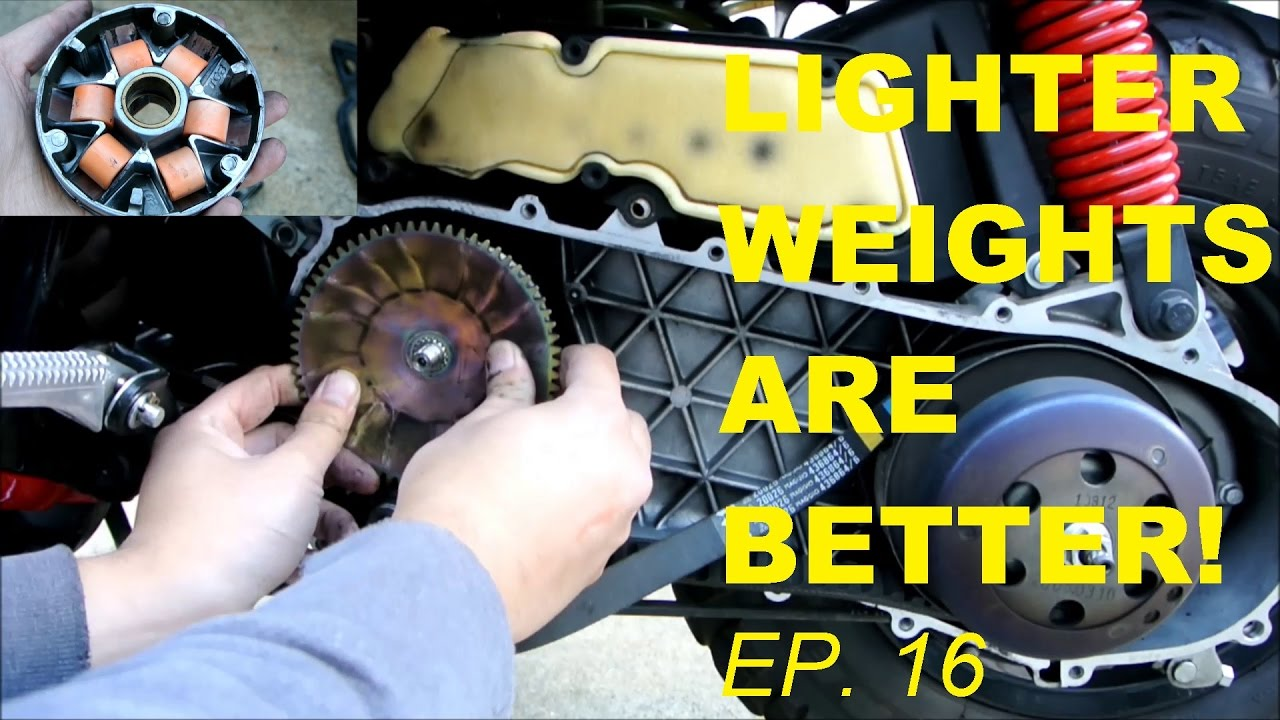 LIGHTER ROLLER WEIGHTS U003d MORE SPEED (FASTER SCOOTER EPISODE 16)