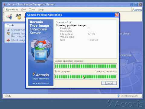 Create Backup With Acronis عمل نسخة احتياطية علي برنامج اكرونيس Youtube