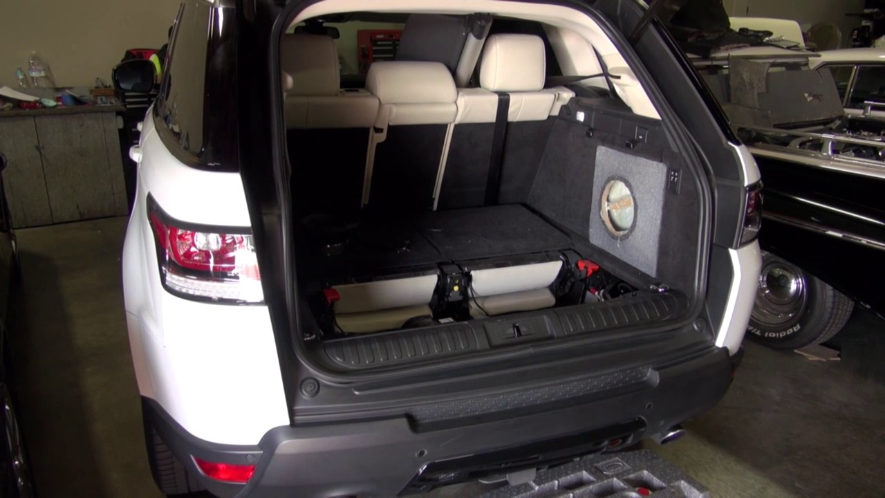 Range Rover Sport Custom Subwoofer By Monney Youtube