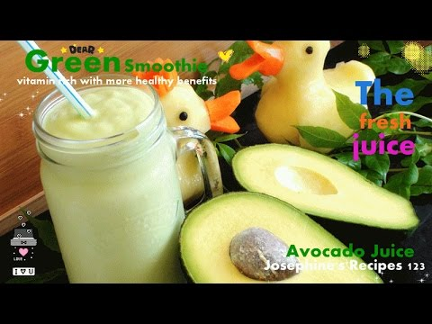 How to Make Avocado Juice 牛油果汁 Green Smoothie - JosephineRecipes.co.uk