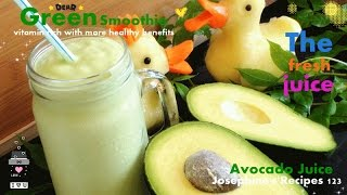 How to Make Avocado Juice 牛油果汁 Green Smoothie - JosephineRecipes.co.uk