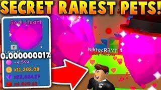 THE *SECRET* SUPER RARE SOUL HEART PET! (Rarest Update Pet!) - Roblox Bubble Gum Simulator