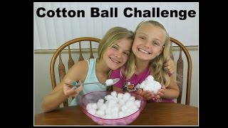 Cotton Ball Challenge ~ Jacy and Kacy