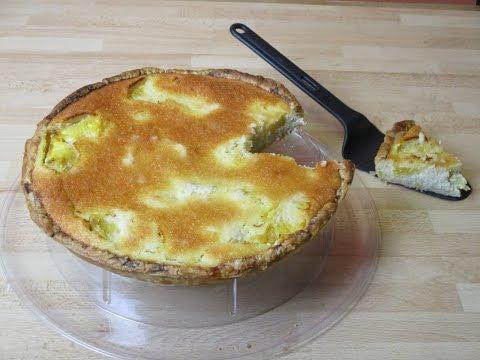 recette-de-la-tarte-au-lait-et-poudre-de-noix-de-coco-et-à-l'ananas