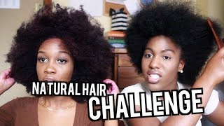 NATURAL HAIR CHALLENGE | Angelique Brown
