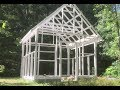 Building a Greenhouse out of Recycled Vintage Windows- Chapter 1- Foundation