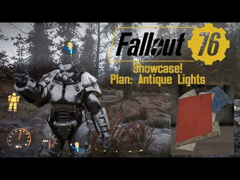 Showcase Plan Antique Lights Fallout 76 Youtube