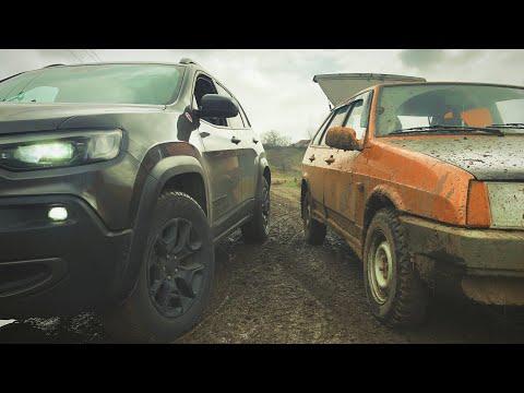 ПЕРЕДНИЙ или ПОЛНЫЙ??? Какой привод ТАЩИТ? Jeep Cherokee VS Москвич и девяточка...