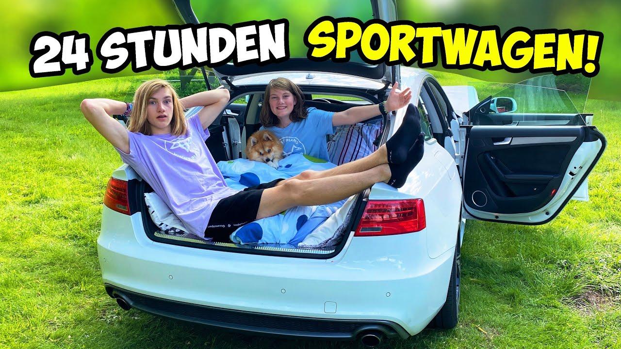 Download 24 STUNDEN im SPORTWAGEN campen Challenge!
