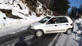 Sliding cars in manali