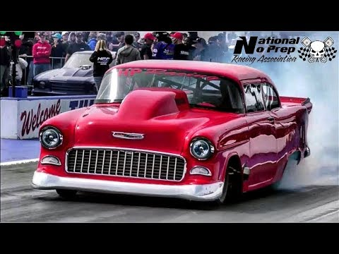 The 55 vs Street Beast Doc in a drag race at the No Prep Kings in Tulsa Ok