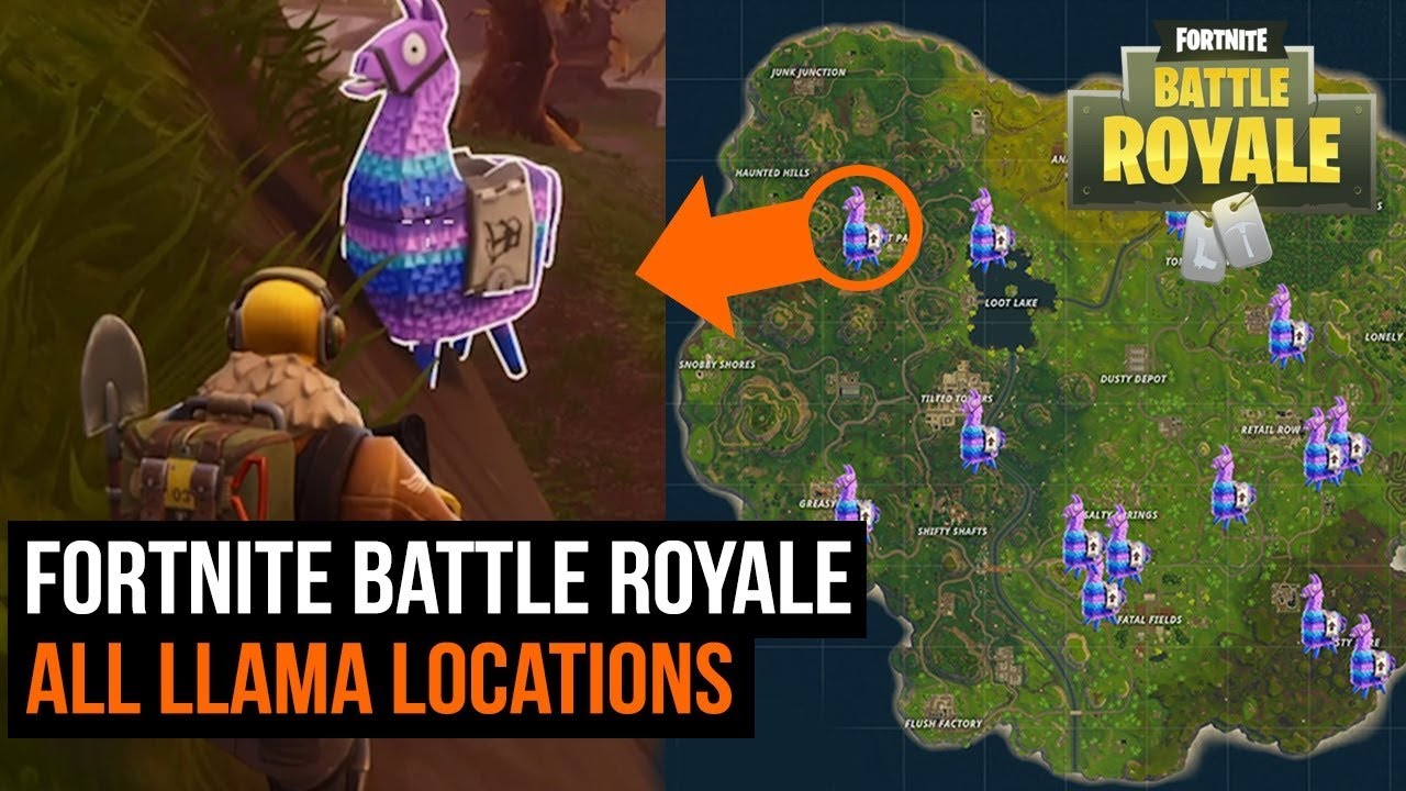 how to find all super rare llama locations in fortnite battle royale - fortnite lama spawn
