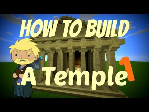 Minecraft - How to make a Greek temple - The EASY way!!! Part 1 - Frapperdk