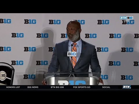 Illinois Coach Lovie Smith | 2018 Big Ten Football Media Days