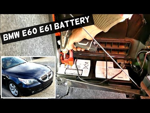 BMW E60 E61 BATTERY REPLACEMENT WITHOUT PROGRAMMING 525i 530i 535i 550i 520d 525d 530d 535d