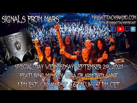 Joey Vera Of Armored Saint | Signals From Mars September 29, 2021