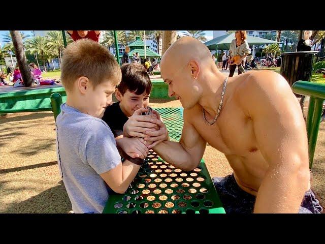 10-Year Old Kids VS Bodybuilder (Part 2)