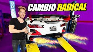 CAMBIO RADICAL A MI CORVETTE C8 😱 SISTEMA DE ESCAPE PERSONALIZADO🔥