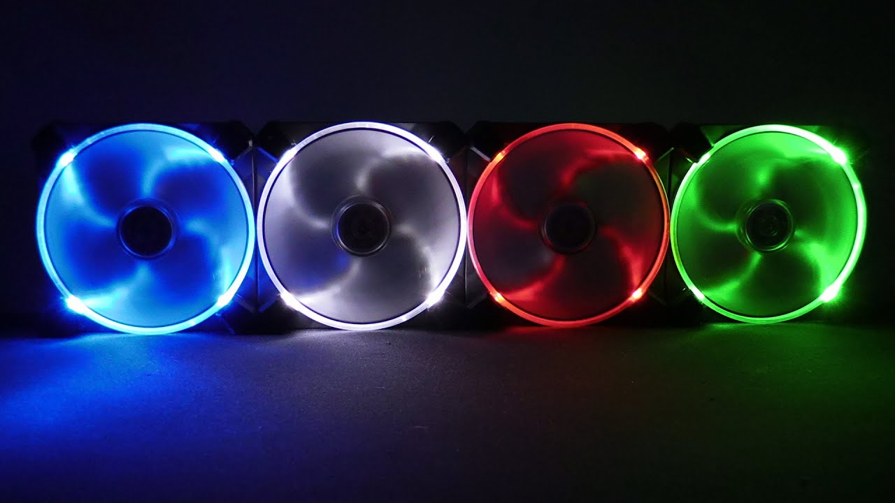 Antec Truequiet Ufo Ring Led Fans All Colours Youtube
