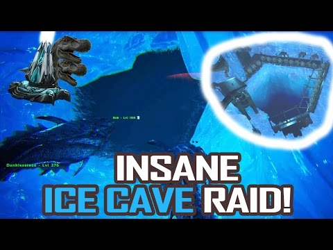 INSANE CENTER ICE CAVE RAID!  |  ARK Official Server