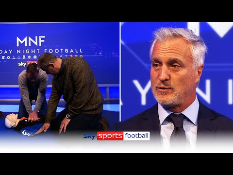 Best way to support Eriksen is to take 5 mins to learn CPR, you could save a life - MNF: David Ginola & Jamie Carragher learn CPR