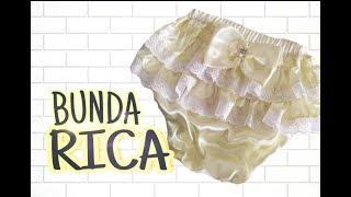 CALCINHA BUNDA RICA 03 A 06 MESES COM MODELAGEM – PASSO A PASSO